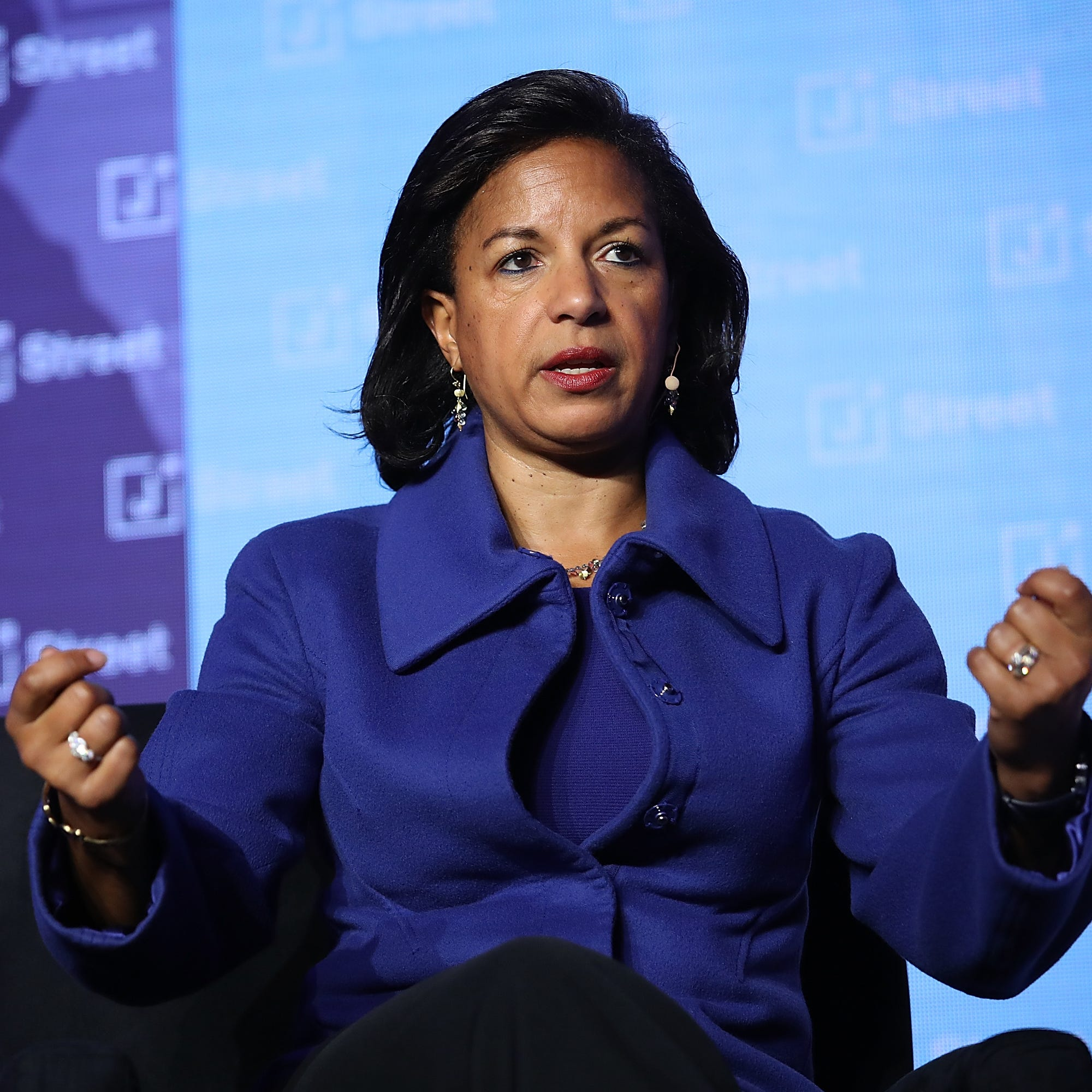 Former national security adviser Susan Rice speaks at the J Street 2018 National Conference on April 16, 2018 in Washington.