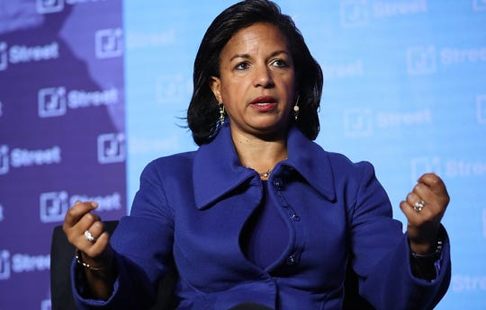 Former national security adviser Susan Rice speaks at the J Street 2018 National Conference on April 16, 2018, in Washington.