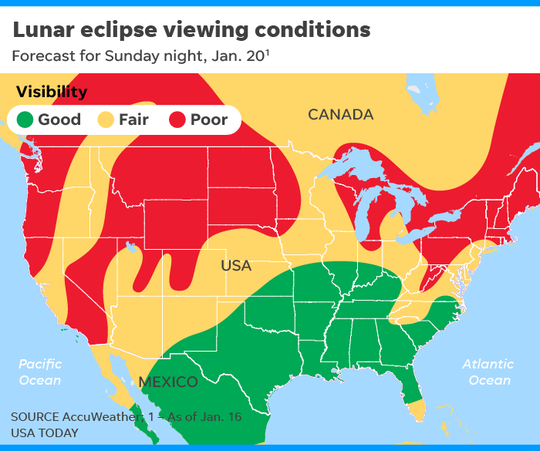 Middle Tennessee should be a good spot to catch Sunday's eclipse, if skies are clear.
