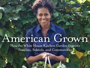 """ORG XMIT: GANNETT Michelle Obama celebrates healthy eating and gardening in her book """"American Grown: How the White House Kitchen Garden Inspires Families, Schools, and Communities."""" ( [Via MerlinFTP Drop]"""