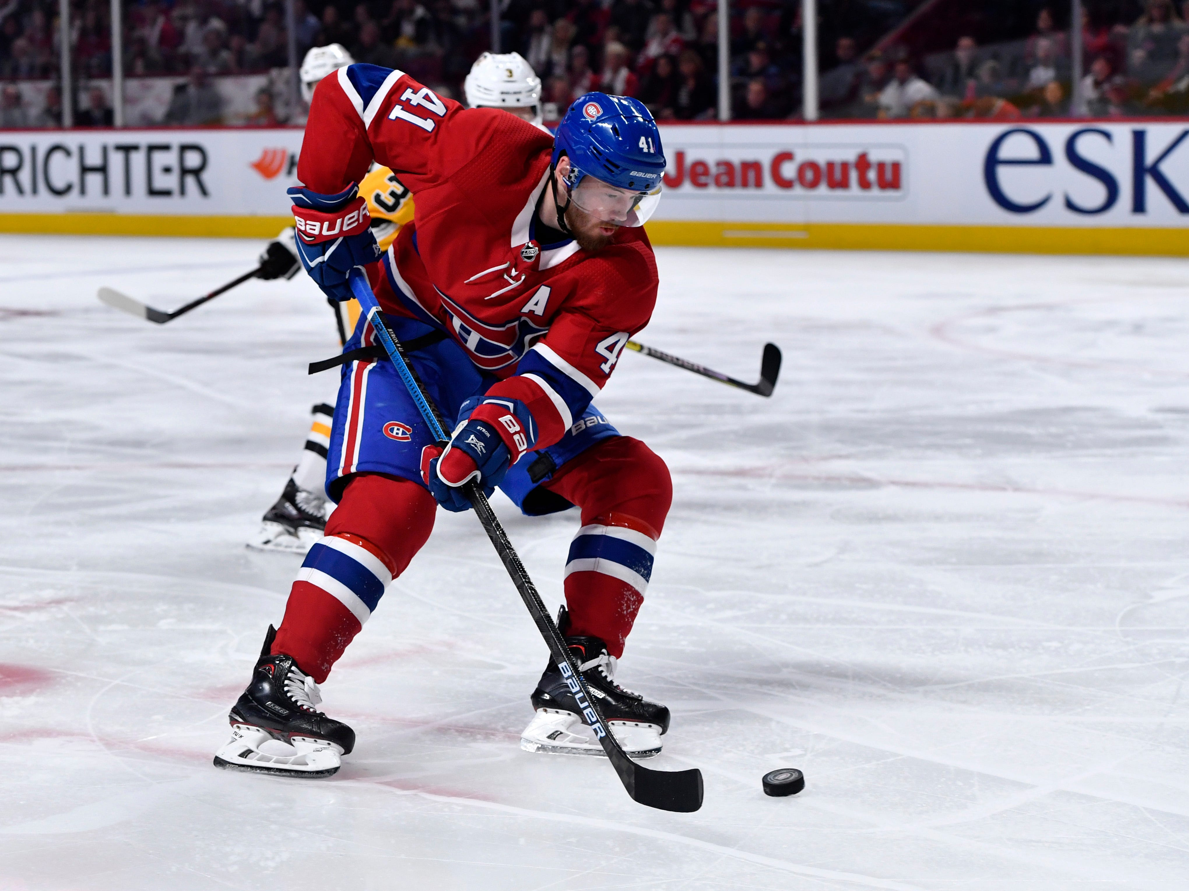 Jan. 16: Montreal Canadiens forward Paul Byron was suspended for three games for charging Florida Panthers defenseman MacKenzie Weegar. Lost pay: $18,817.20.