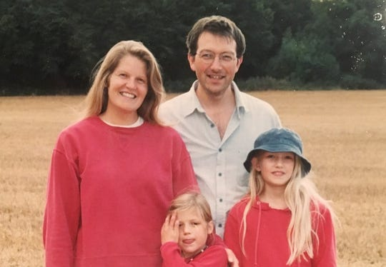 The author with her family in Kent, England, in August, 2003.