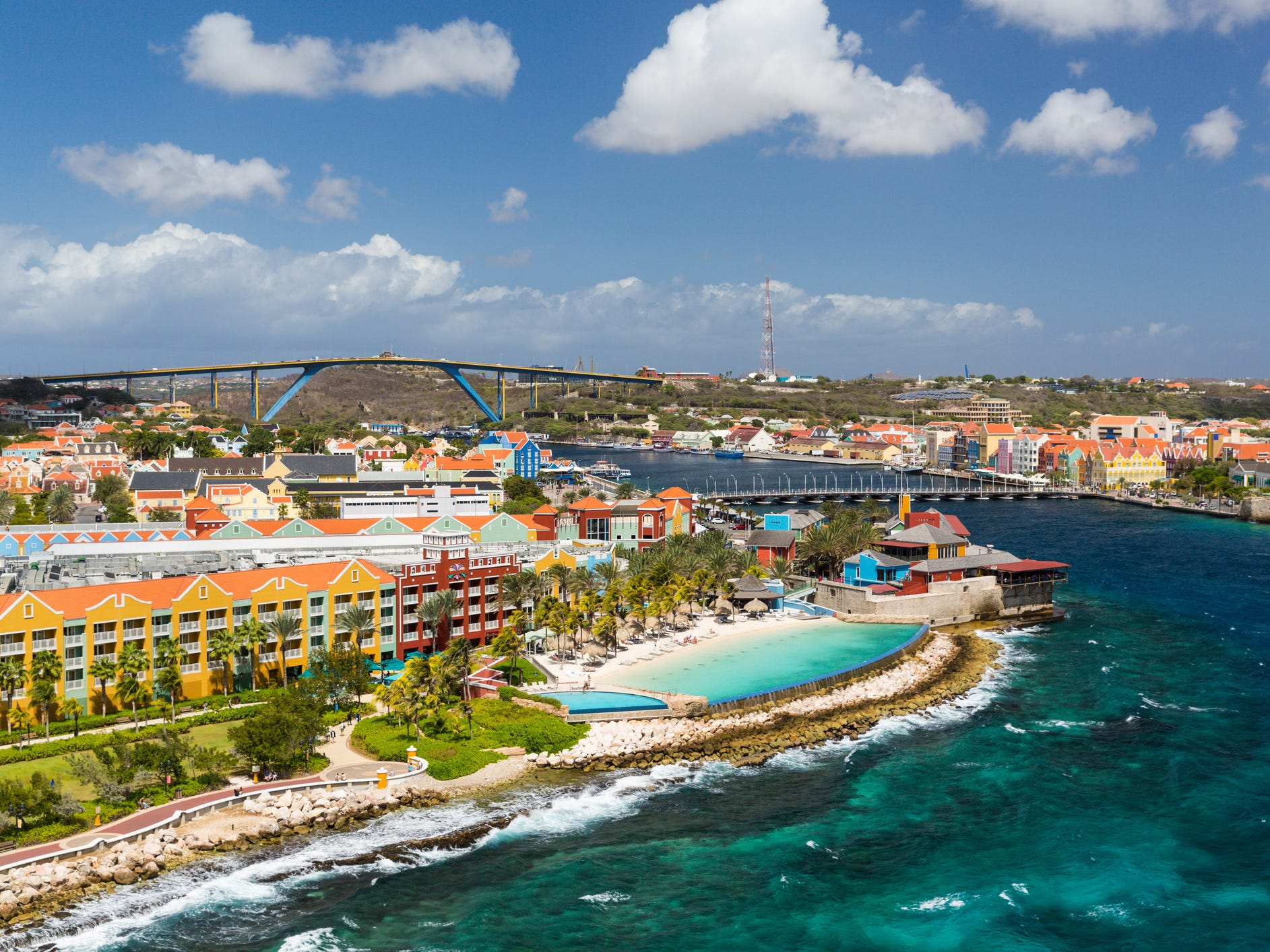 Curacao: This Dutch island is located in the southern part of the Caribbean and is best known as a hot spot for European and Canadian travelers, but there are direct, inexpensive routes from U.S. hubs like New York City and Miami, too. Curacao is one of the best diving spots in the Caribbean and has cheaper hotels than the other nearby islands like Aruba. You'll be more than impressed with the color of the water, as well as by the affordable prices at hip restaurants and bars in the Pietermaai area.