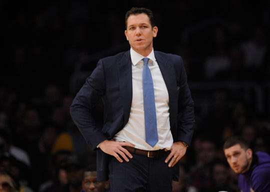 The Lakers are 24-21 under coach Luke Walton this season.