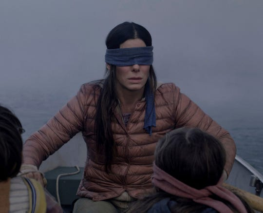 The Bird Box challenge is inspired by the movie of the same name, in which Sandra Bullock must navigate the world blindfolded.