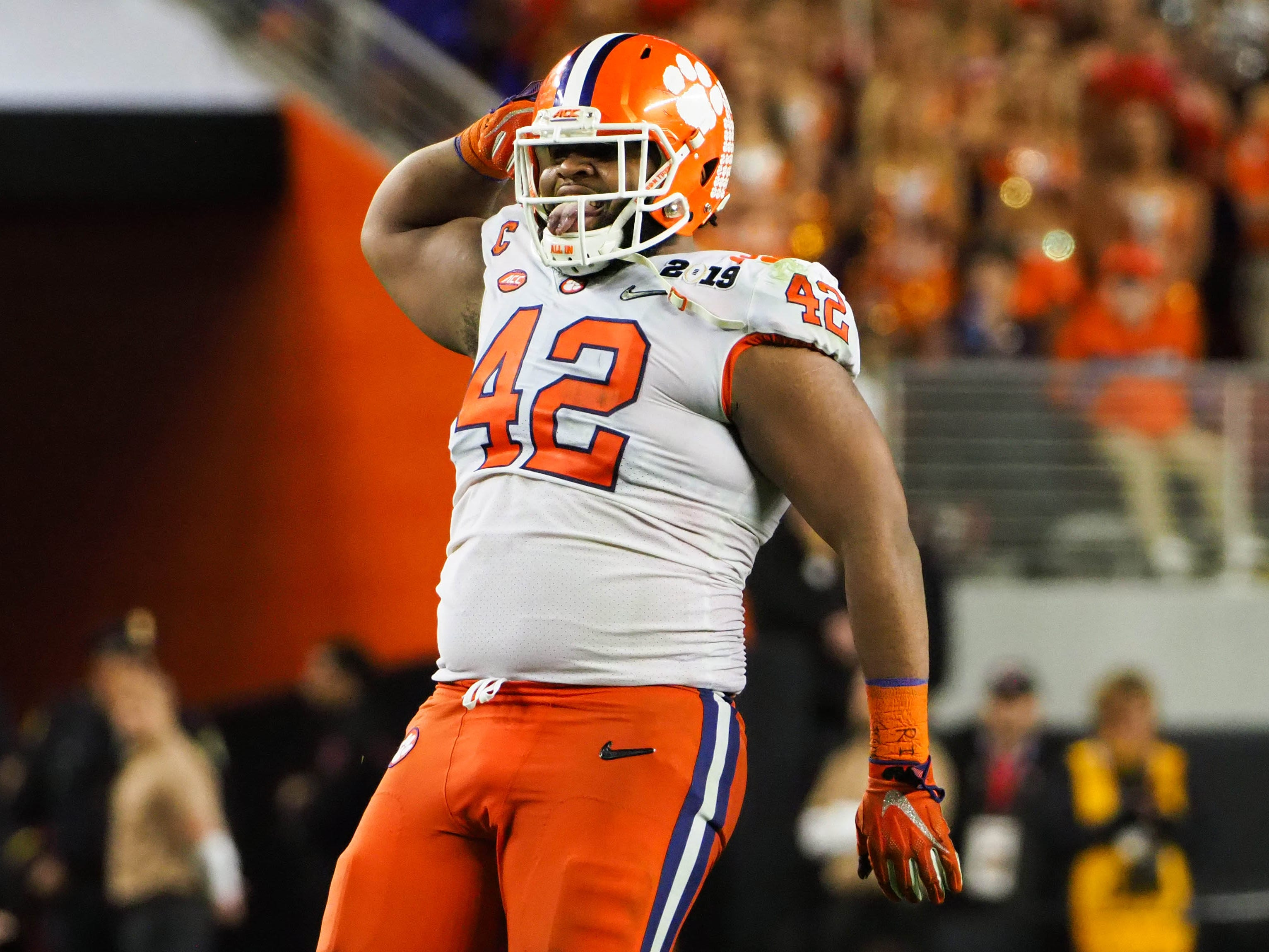 14. Falcons — Christian Wilkins, DT, Clemson