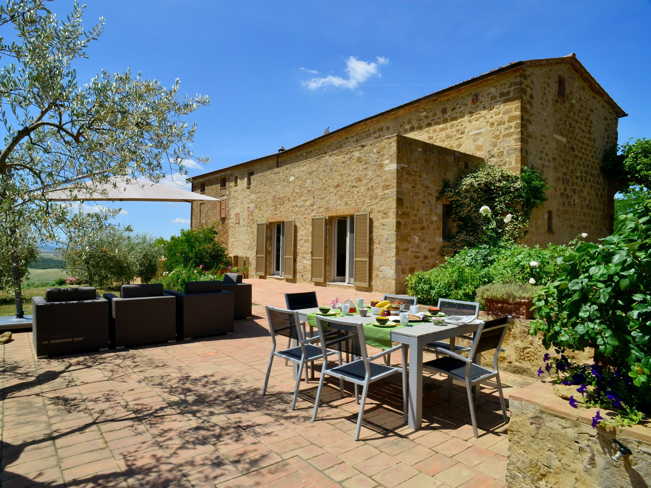 This villa near Siena has 4 bedrooms and 4.5 baths.