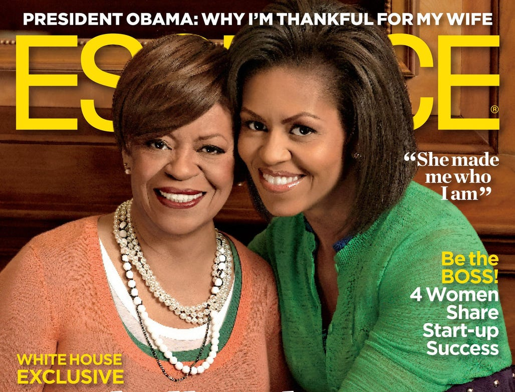 ESSENCE Magazine's White House Exclusive! Special May Cover Story Features First Lady Michelle Obama and Her Mother.  (PRNewsFoto/ESSENCE Magazine, Timothy White) ORG XMIT: PRN10