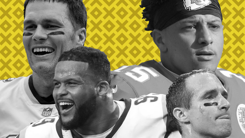 Tom Brady, Patrick Mahomes (15), Drew Brees (9) and Aaron Donald (99) should all have a lot to say about who moves on to Super Bowl LIII.