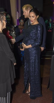 """Prince Harry and Duchess Meghan of Sussex attend the Cirque du Soleil charity gala premiere of """"Totem"""" at Royal Albert Hall on Jan. 16, 2019 in London."""