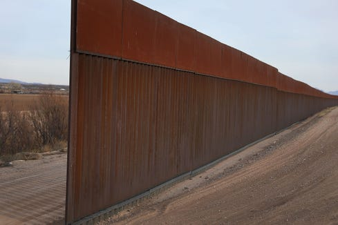 A part of the U.S.-Mexico border fence is seen on Jan. 14, 2019 in Fort Hancock, Texas.