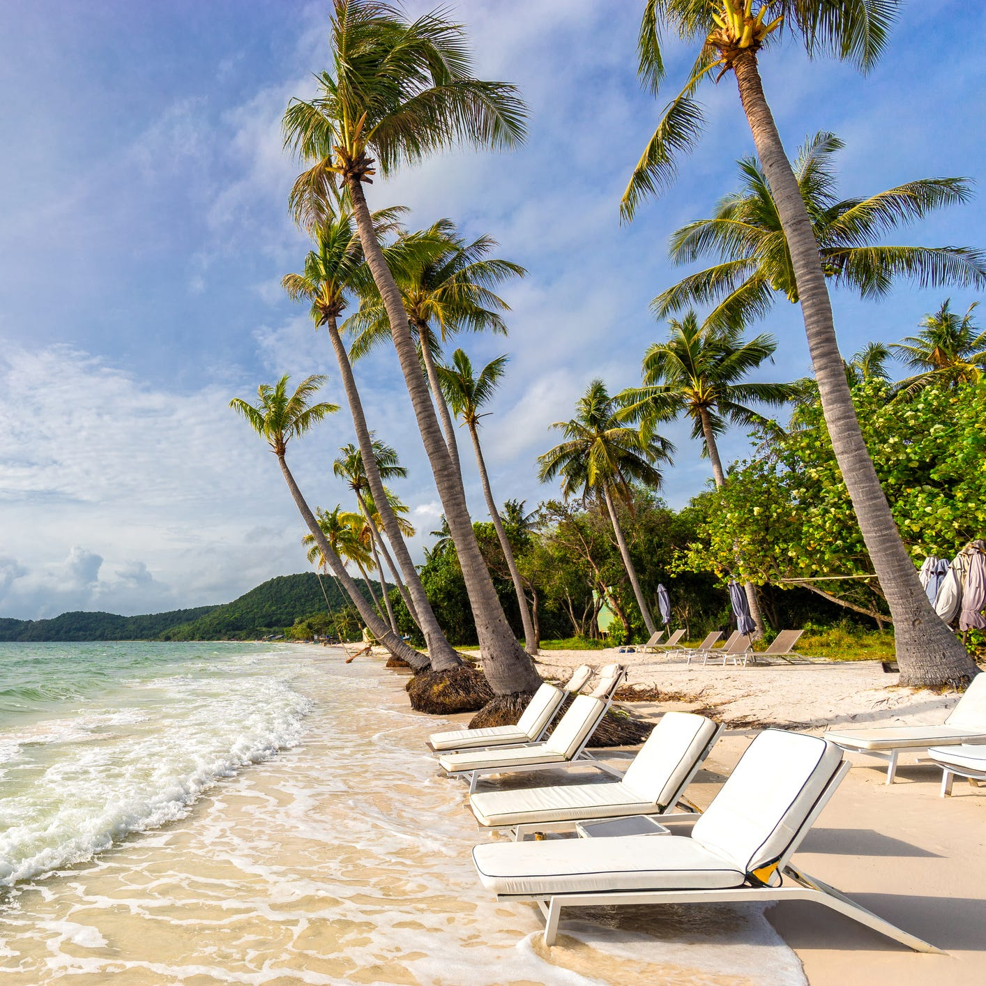 """Phu Quoc Island, Vietnam Accessible via a short and inexpensive flight from Ho Chi Minh City (Saigon), Phu Quoc is a picturesque island paradise. While getting to Southeast Asia isn't """"cheap,"""" it's currently reasonably affordable to fly to Ho Chi Minh City, with round-trip flights hovering around $800 from New York City, Boston, Chicago and Los Angeles. The island is located off the Mekong Delta and still has some untouched beaches and affordable luxury resorts, making this tropical destination a great value getaway. It's also deemed a """"Special Economic Zone"""" so visitors don't need a visa if they're only staying here."""
