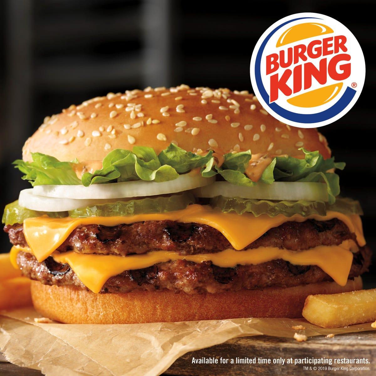 Burger King trolls McDonald's with new Big King XL sandwich