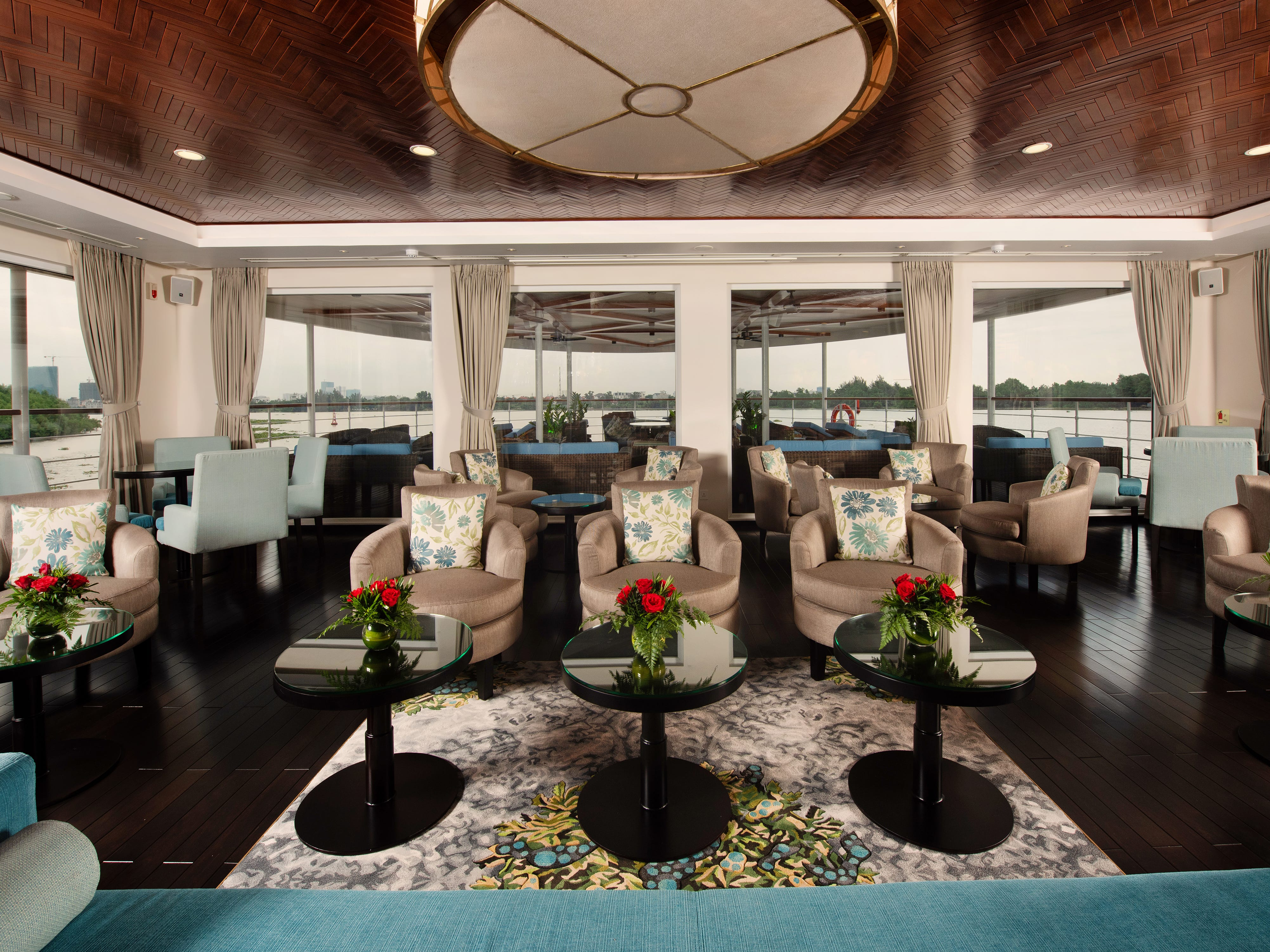 Like Avalon Waterways ships in Europe, Avalon Saigon offers expansive views from its main lounge through walls of glass.