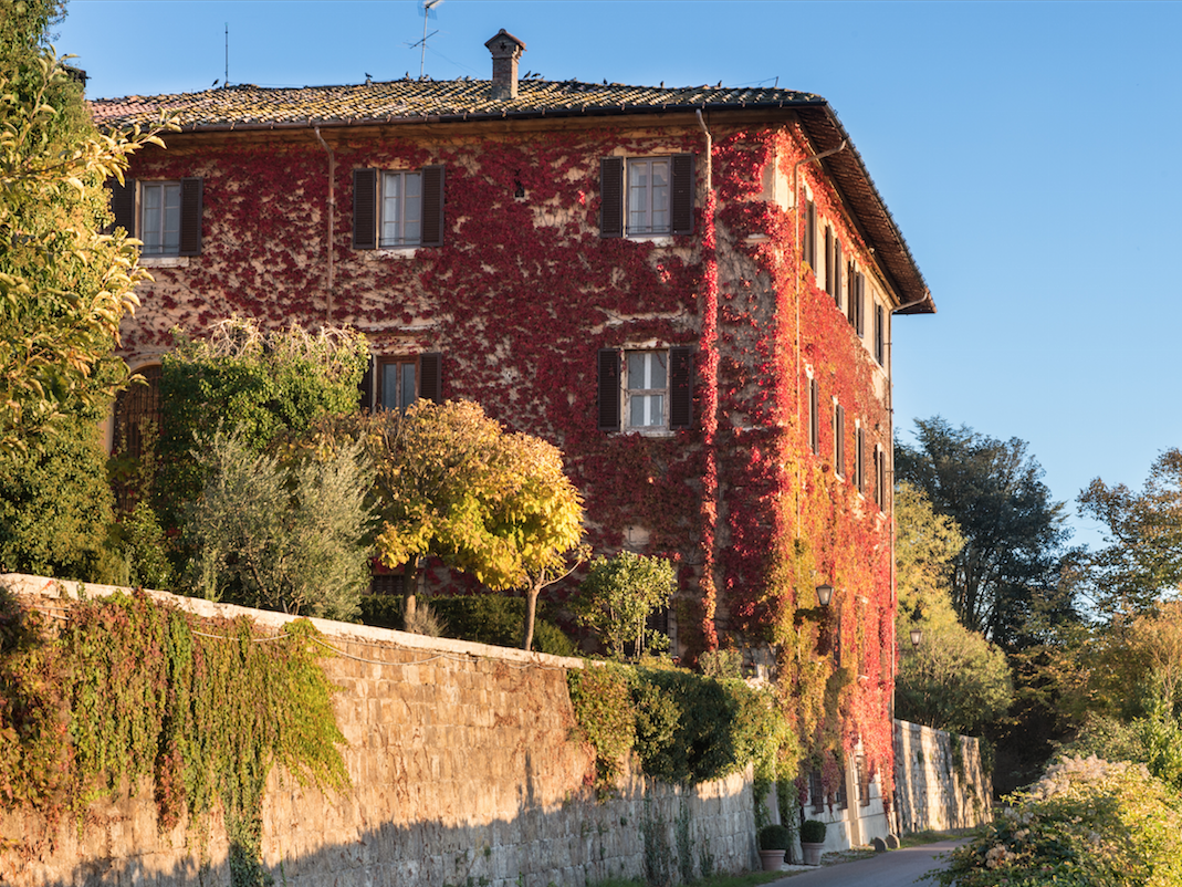 This villa in Chianti has nine bedrooms and nine baths.