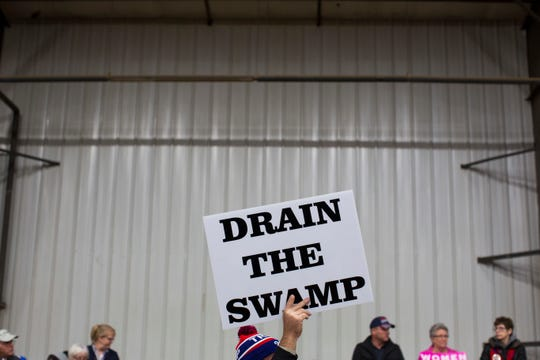 Supporters of Donald Trump at a rally in Springfield, Ohio, on Oct. 27, 2016.