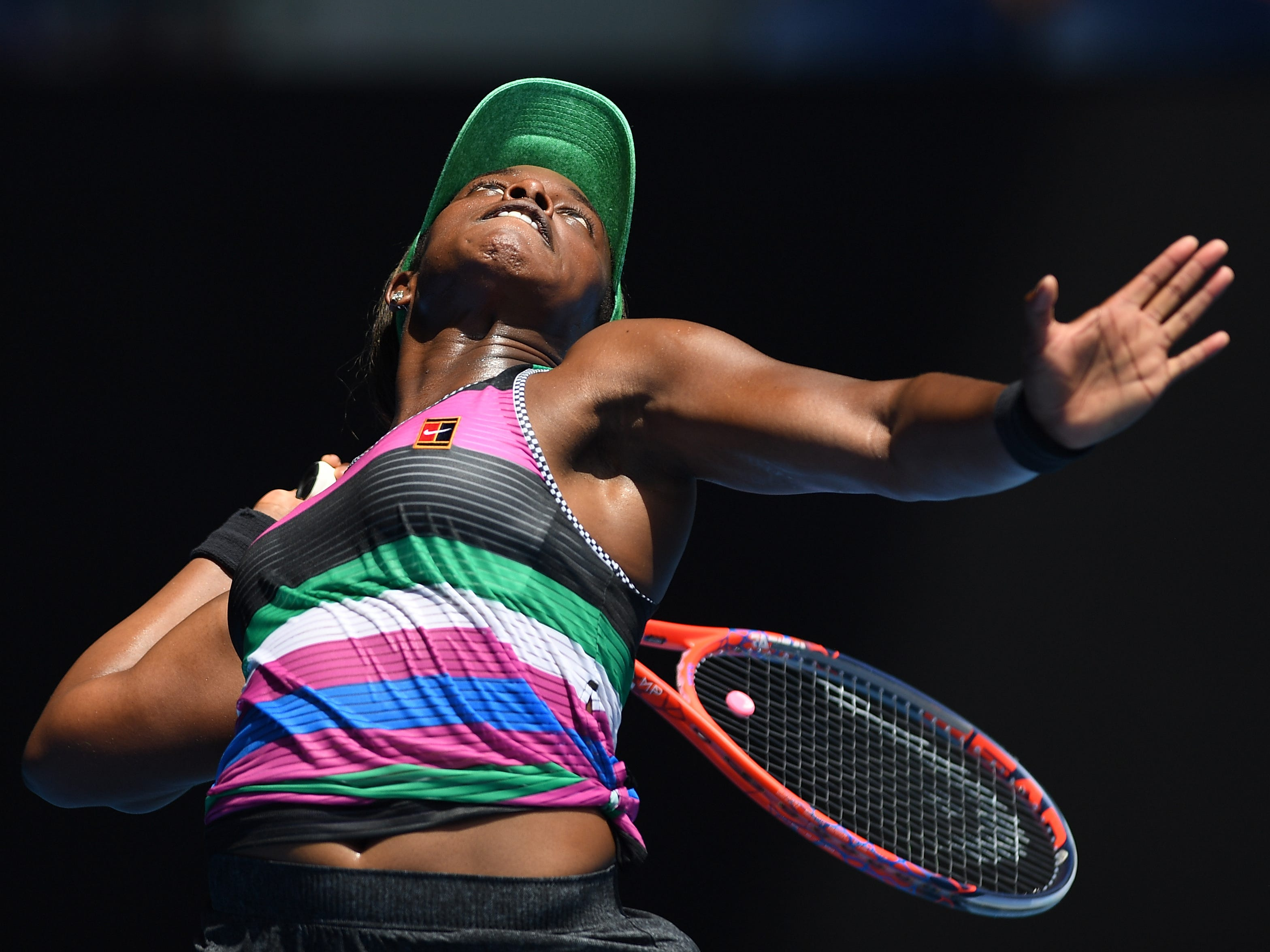 No. 5 Sloane Stephens cruised to a 6-3, 6-1 win over Hungary's Timea Babos in the second round.