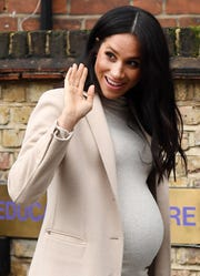 Duchess Meghan of Sussex visited the Mayhew Animal Home in London,  Jan. 16, 2019.