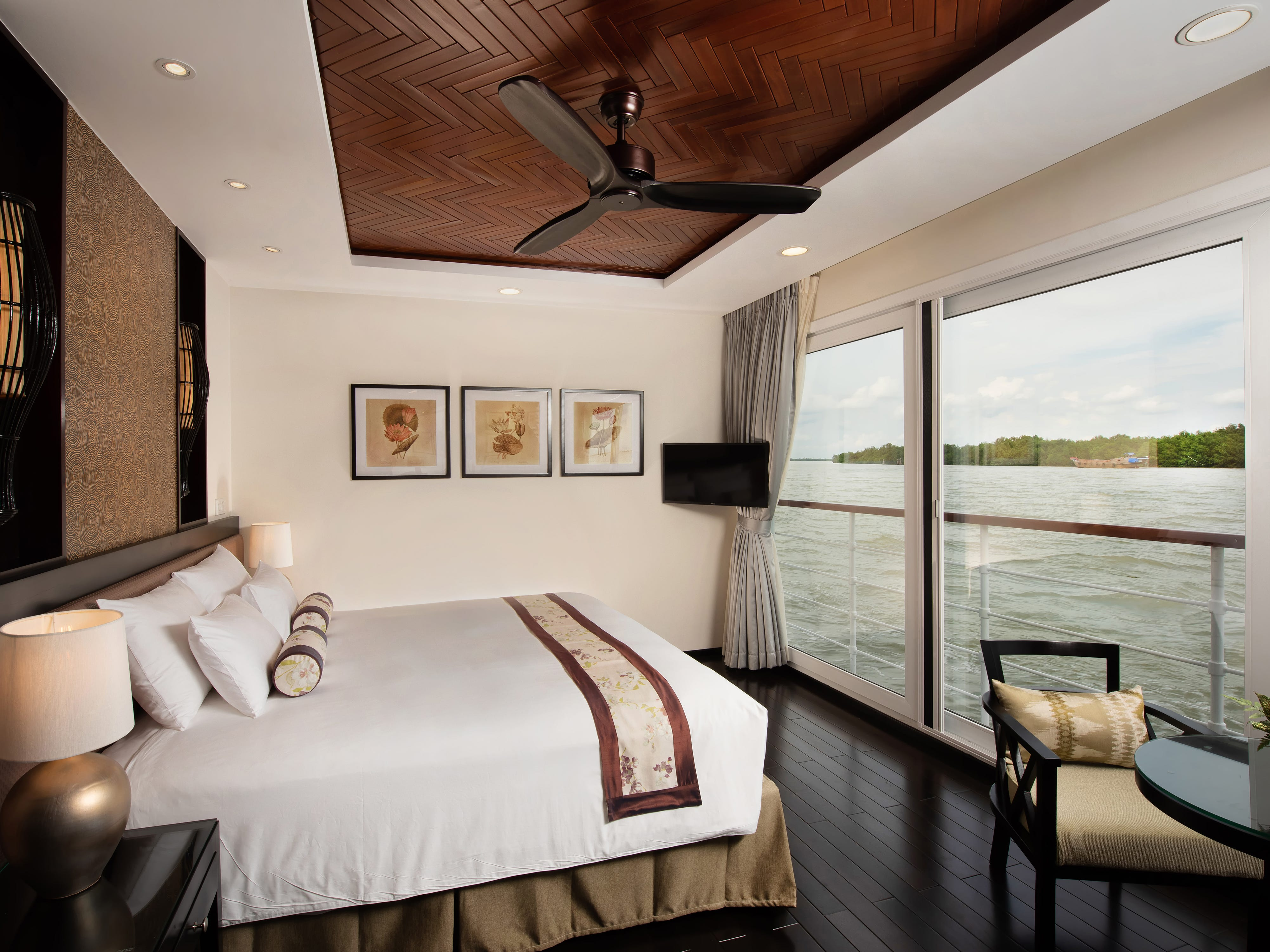 Each Avalon Saigon suite has one of Avalon's signature Comfort Collection Beds that faces the water.