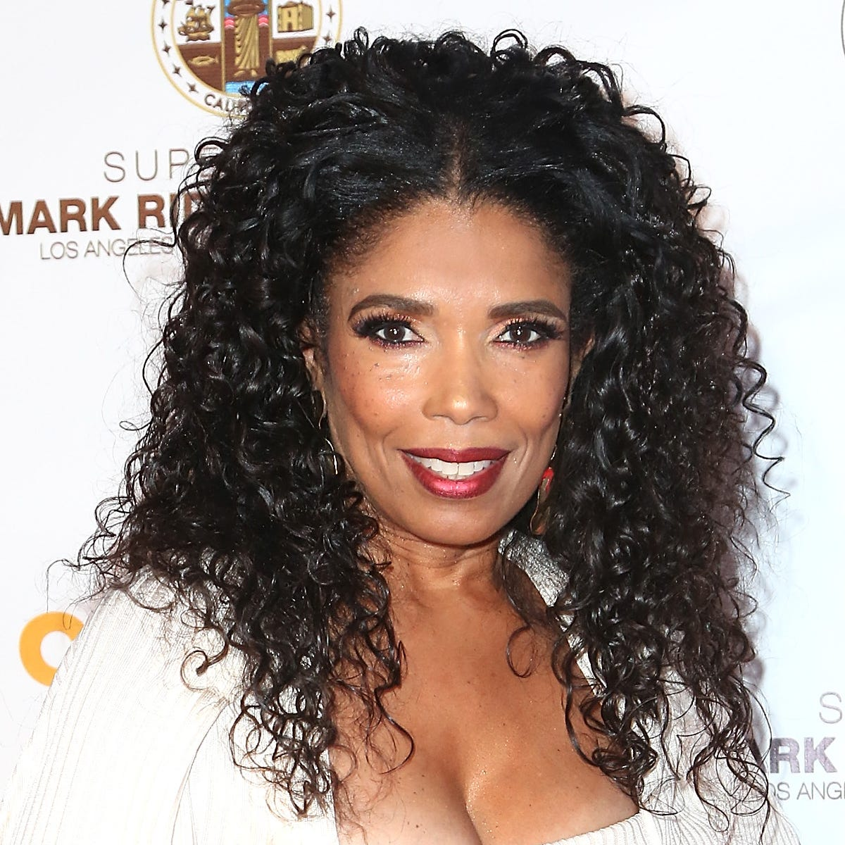 Areva Martin arrives at the Special Needs Network Superhero Gala at the California African American Museum on Oct. 20, 2018, in Los Angeles.