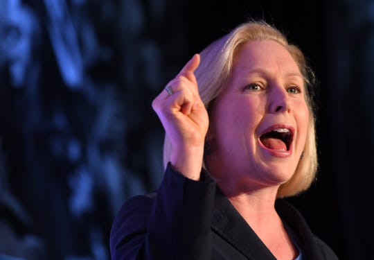 Senator Kirsten Gillibrand, D-NY, delivers address to the Center for American Progress (CAP) during the annual ideas conference in Washington.