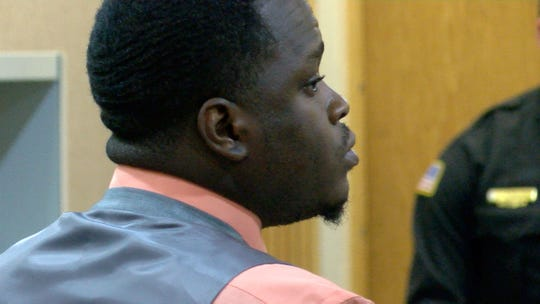 Gregory Jean-Baptiste is shown during the first day of his trial for the 2009 Neptune City murder of Jonelle Melton, a Red Bank school teacher. Also charged are Ebenezer Byrd and Jerry H. Spaulding.