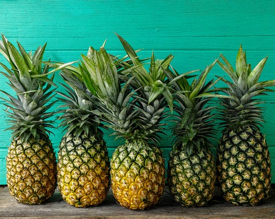 Perfect pineapples should be very firm and never feel soft or spongy or have bruises or soft spots. Use your nose – if the pineapple has a good aroma, it's ripe.