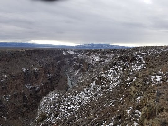 The view at the Rio Grande Gorge Bridge is captivating.