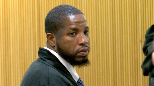 Ebenezer Byrd is shown during the first day of his trial for the 2009 Neptune City murder of Jonelle Melton, a Red Bank school teacher. Also charged are Jerry Spaulding and Gregory Jean-Baptiste.
