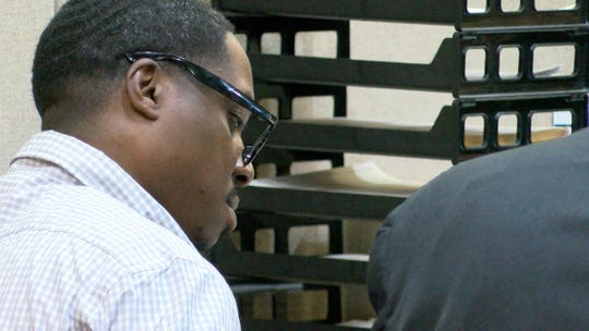 Jerry Spaulding is shown during the first day of his trial for the 2009 Neptune City murder of Jonelle Melton, a Red Bank school teacher. Also charged are Ebenezer Byrd and Gregory Jean-Baptiste.