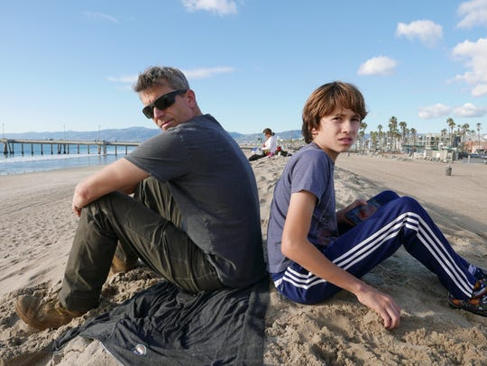 Michael (left) and Michelangelo Broderick at Venice Beach