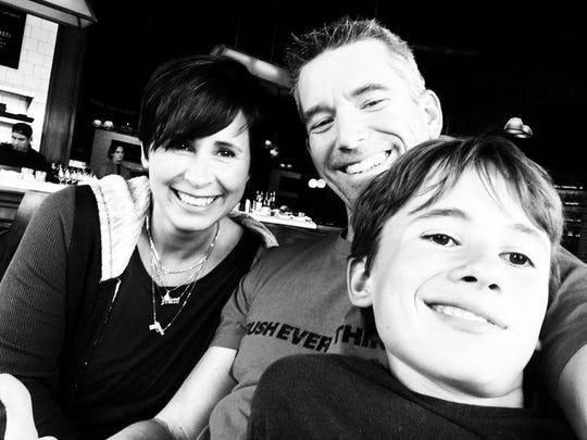 Dana Commandatore, Michael Broderick and son Michelangelo Broderick