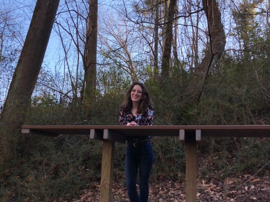 Cailyn Raper, a senior at Buncombe County's Martin L. Nesbitt Discovery Academy, built the school's outdoor classroom.