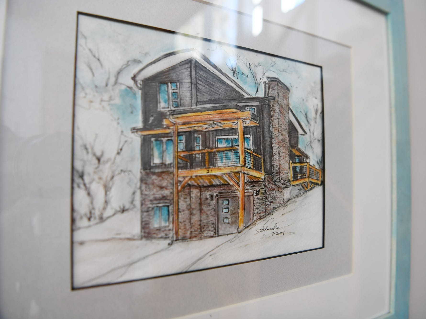 A illustration of Matthew Rooks' home, which is for sale in Asheville.