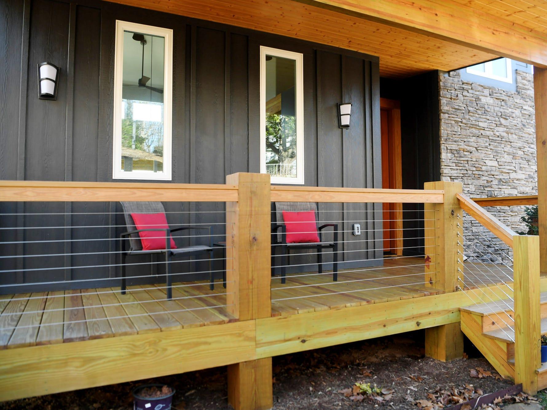 Matthew Rooks' porch in Asheville.