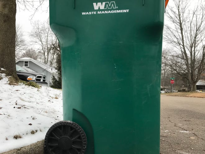 Waste Management's Battle Creek recycling schedule will switch to biweekly in May.