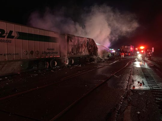 A truck crash on I-94 closed the westbound lanes for 7 1/2 hours.