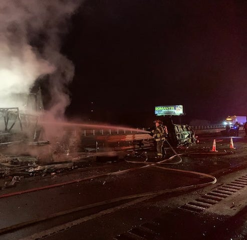 One killed after two semitrucks crash on I-94 in Emmett Township