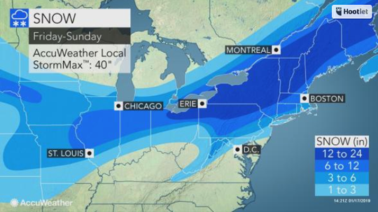 Winter Storm Harper could bring 12-24 inches to the Southern Tier.