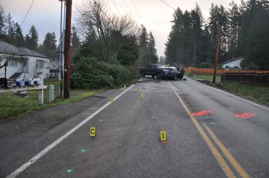 A fatal crash early Monday morning in Illahee was blamed on icy road conditions.