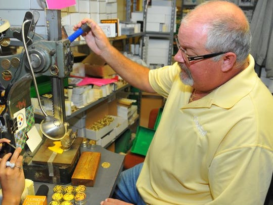 The Highland Mint in Melbourne manufactures the coin used in the Super Bowl each year.