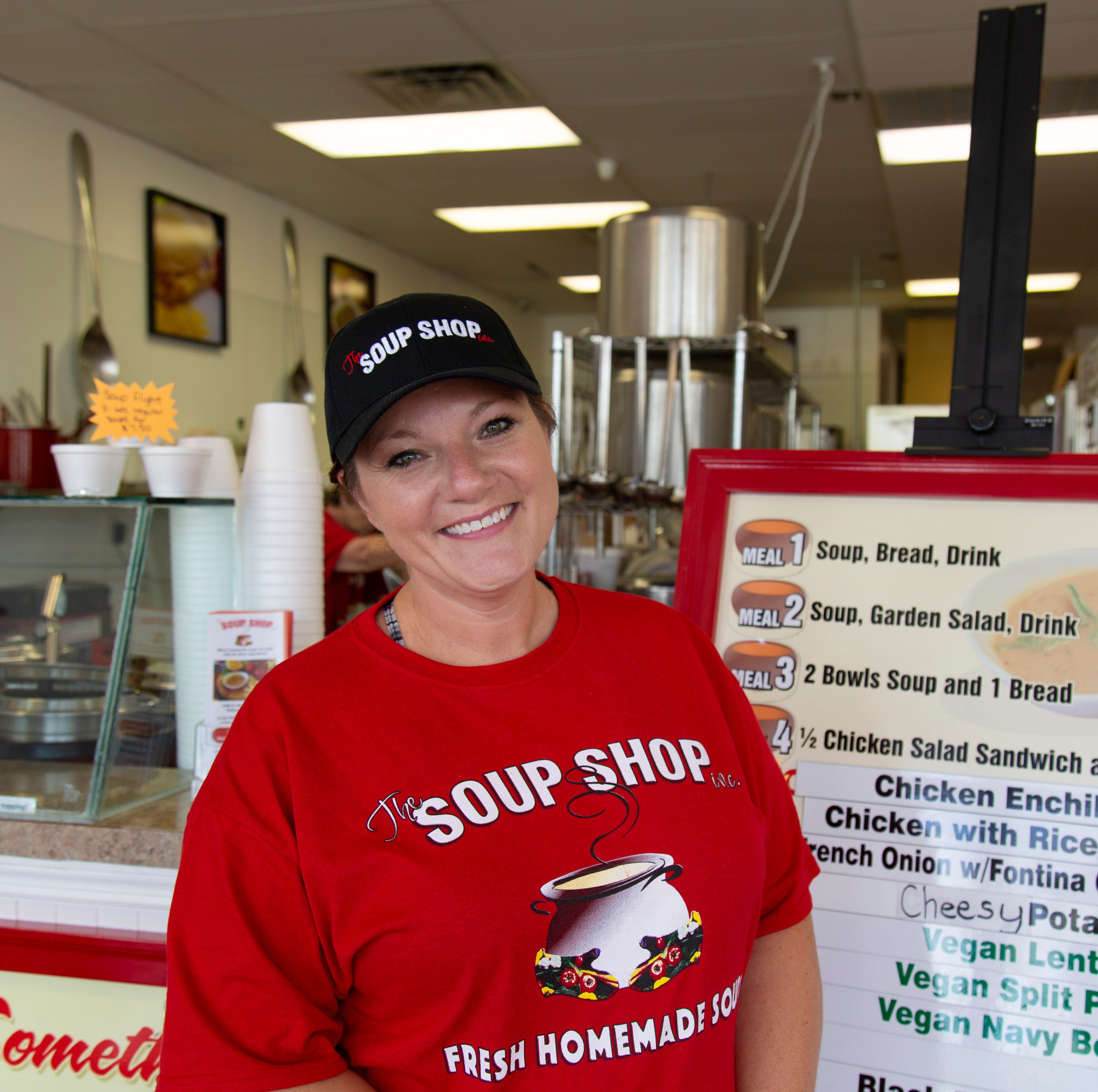 Monica Anderson, 40, started working at The Soup Shop after her husband, Adam Anderson, was one of the furloughed workers affected by the government shutdown.