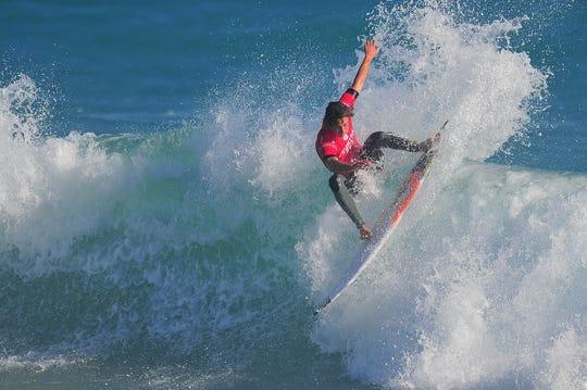 Surfer Evan Geiselman displays