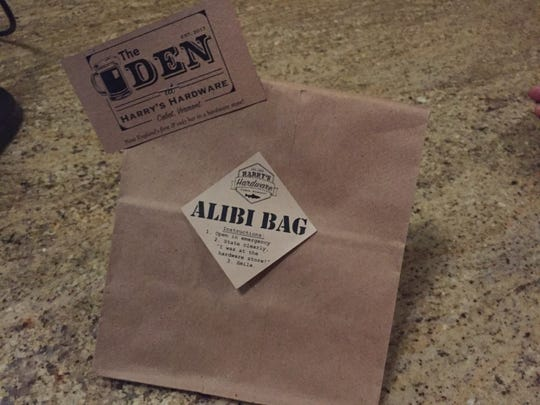 """The Den at Harry's Hardware in Cabot offers an """"alibi bag"""" to customers who want to convince someone at home that they really needed something at the hardware store and not the bar."""