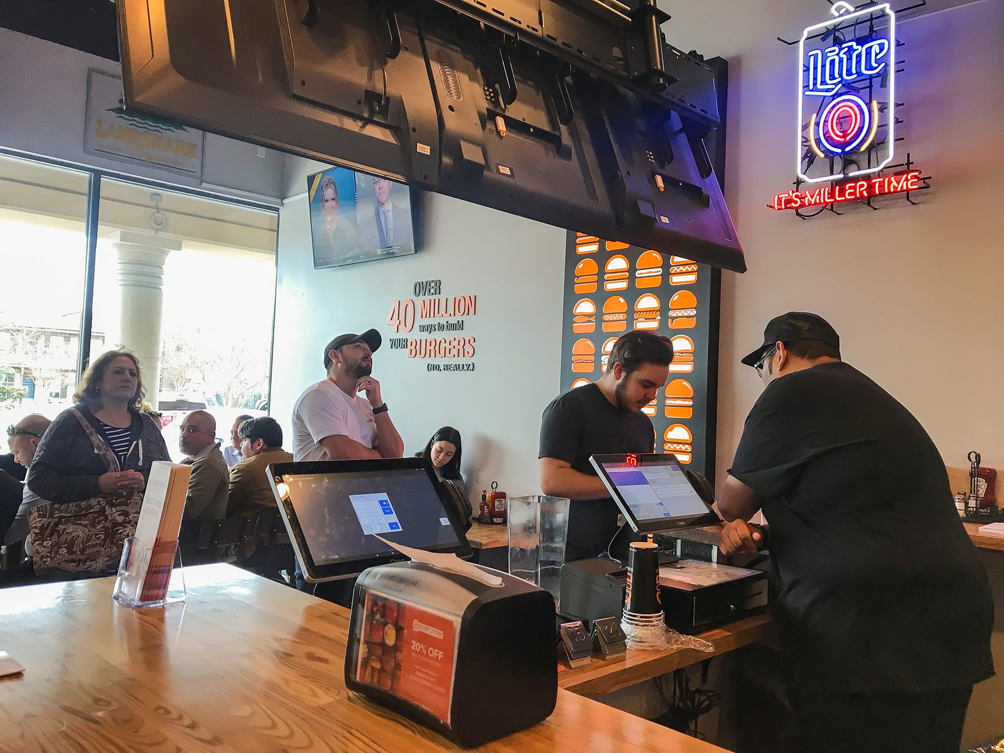 Burgerim of Corpus Christi opened at 6418 S. Staples St. in January 2019. The restaurant serves 3-ounce burgers, fries, onion rings, salads and wings.
