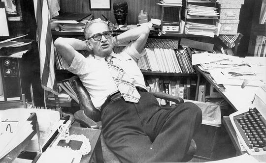 Dr. Hector P. Garcia gives an interview in his office in May 1976.