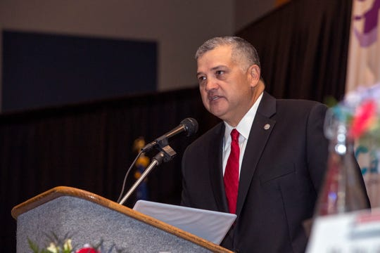 Mark Escamilla, president of Del Mar College, was the keynote speaker at the Dr. Hector P. Garcia Memorial Foundation luncheon celebrating what would have been Dr. Garcia's 105th birthday on Thursday, January 17, 2019 at the American Bank Center.