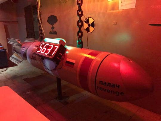 "A timer designed as a nuclear missile is featured in the ""Beat the Blast"" escape room aboard the Lexington Museum on the Bay."
