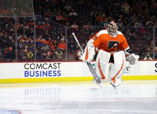 Carter Hart made a career-high 39 saves Wednesday in the Flyers' 4-3 win over the Boston Bruins.