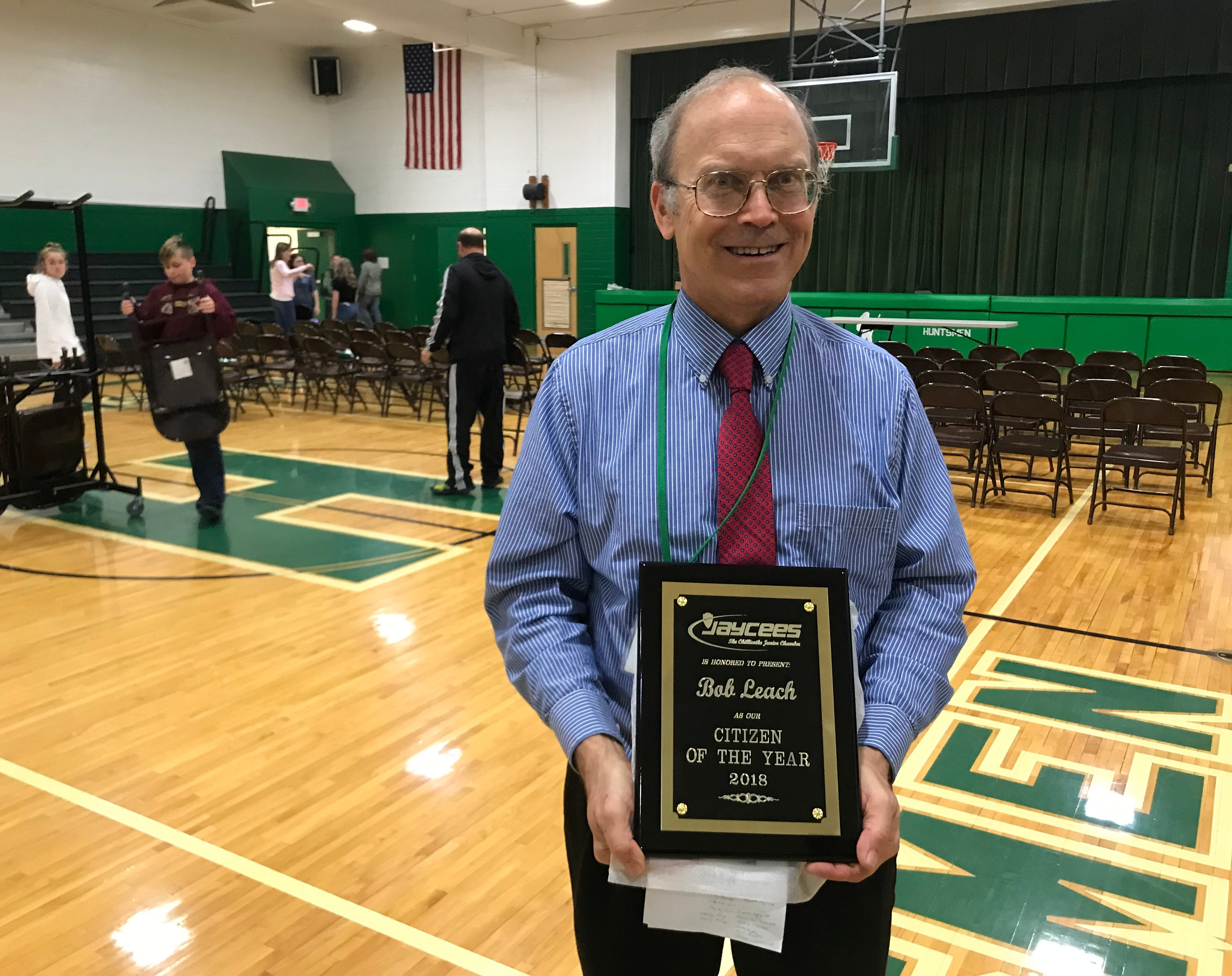 Robert 'Bob' Leach was awarded the Chillicothe Jaycees 2018 Citizen of the Year award because of his dedication and service to local veterans, students and the community.